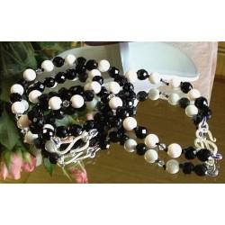 Onyx-Koralle Kette *opulent* 6093